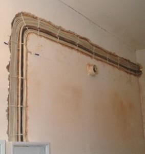 Монтаж проводки в панельном доме